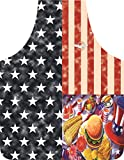 USA Labor Day Picnic 4th of July Flag Apron Fighter Pilot in the Kitchen - Grill - Kitchen - Proud to Be an American...