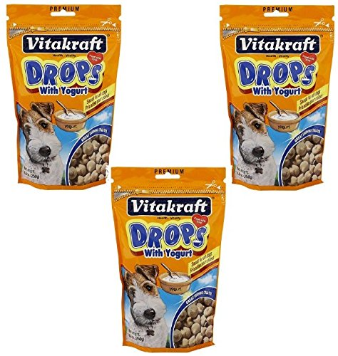 VitaKraft Drops with Yogurt Dog Treat Snacks - 3 (Dog Yogurt Drops)