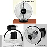 OSCAR Gusto 12' All Purpose 3 in1 (Ceiling,Wall,Table) Cabin Fan (Black)