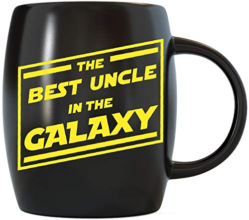 Fathers Day Gift for The Best Uncle In The Galaxy Funny Novelty Gag Gifts for The Worlds Most Awesome Coolest and Greatest Uncles Ever Cool Ceramic Coffee Mugs Tea Cup for Birthday or Christmas