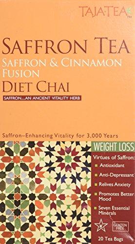 Saffron Cinnamon Diet Chai Tea 20 Bags - Saffron Tea
