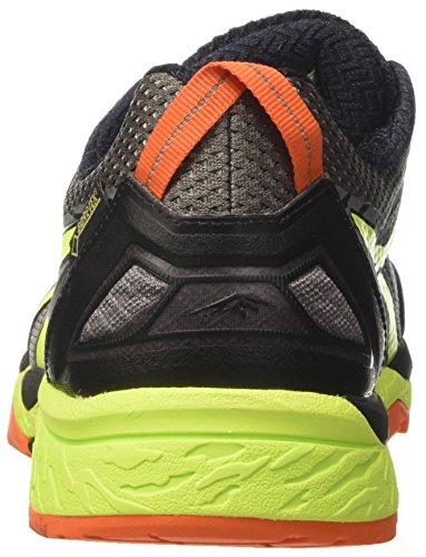 Asics Herren Gel-Fujitrabuco 5 G-TX Trail Running Schuhe Mehrfarbig (Shark / Safety Yellow / Black)