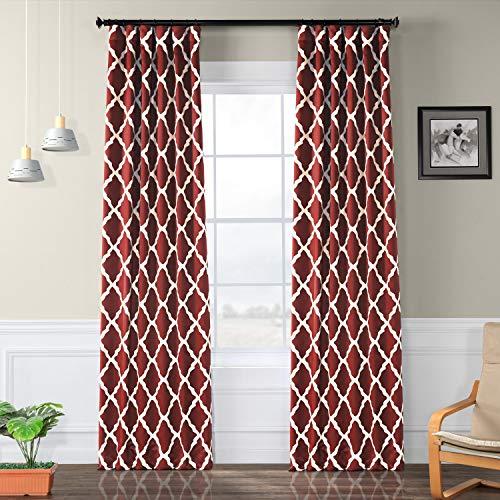 - HPD HALF PRICE DRAPES BOCH-KC23-120 Trellise Blackout Room Darkening Curtain 50 X 120,Trellise