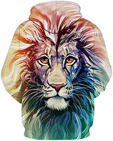 Sweatshirts Tops T-Shirts Kapuzenpullover SweatshirtsMen/Women 3D Sweatshirts Drucken Sunlight Refraction Rainbow Hoodies Pullover Oberteile Hoody^ Picture_Color_M