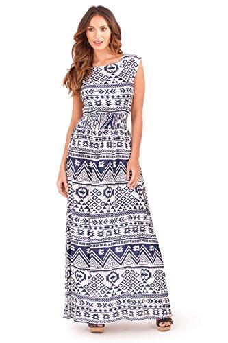 Pistachio - Vestido - Manga Larga - Sin mangas - para mujer Aztec Navy - Blue