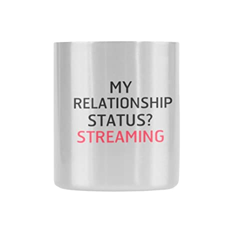 new yearchristmas day gifts funny saying my relationship status streaming tea or coffee