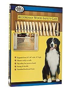 Amazon Com Four Paws Wood Expansion Dog Gate 24 60 Quot W