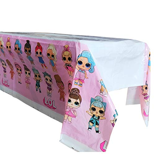 """2pcs the new lol Themed Birthday Party Decorations - Disposable lol Plastic Tablecloth 
