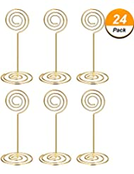 Charmant Shappy 24 Pack Wedding Table Name Number Holders Table Card Holder Stands  Place Paper Menu Clips
