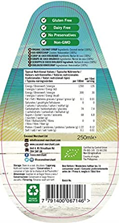 Coconut Merchant - Néctar de Coco - 250 ml: Amazon.es: Alimentación y bebidas