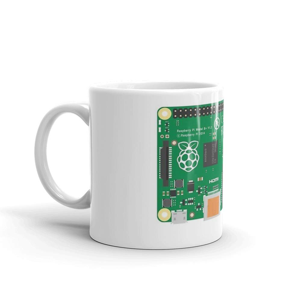 Raspberry Pi Geek 11 Oz White Ceramic Mug