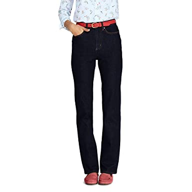 5d0dfd022581 Lands  End Women s High Rise Straight Leg Jeans at Amazon Women s Clothing  store