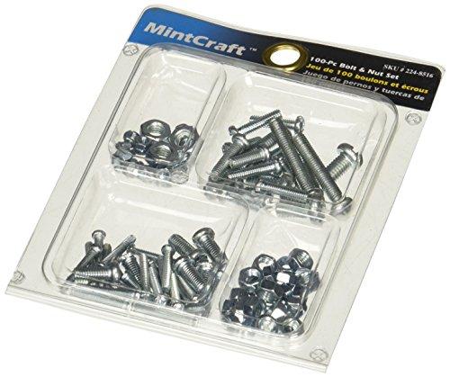 Nuts Specialty Bolts (Mintcraft JL821033L Bolt/Nut Set 100pc)