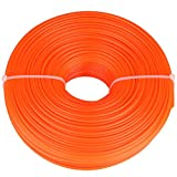 GLOGLOW 2.4mm String Trimmer Line Nylon Cord Wire Round String Trimmer Line in Spool Grass Trimmer Replacement Mowers Tools(120m)