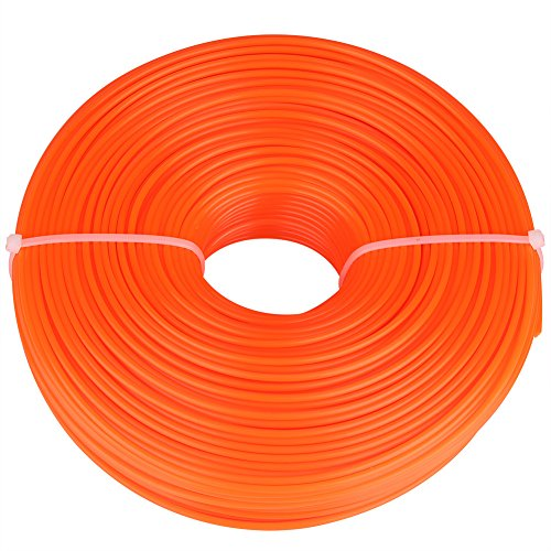 GLOGLOW 2.4mm String Trimmer Line Nylon Cord Wire Round String Trimmer Line in Spool Grass Trimmer Replacement Mowers Tools(120m) by GLOGLOW