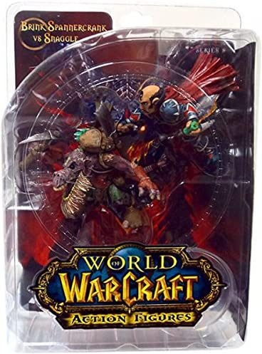 SERIES 8 ACTION FIGURE BLIZZARD WORLD OF WARCRAFT BRINK SPANNERCRANK VS SNAGGLE