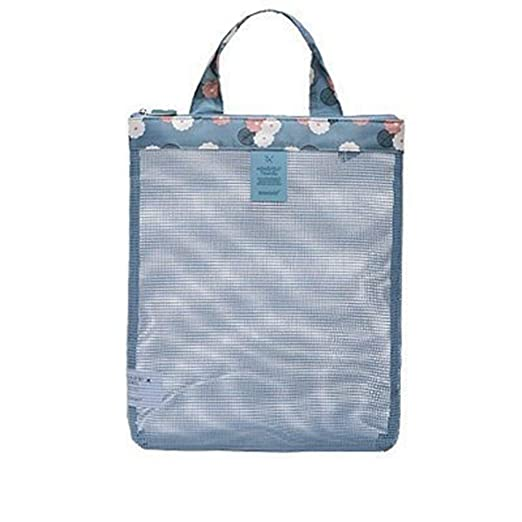 bc29d86b5 Image Unavailable. Image not available for. Color: YaptheS Clear Mesh Beach  Handbag Portable Swim Shower Bag ...