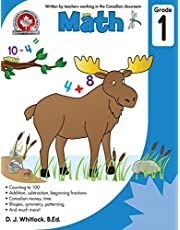 Math Grade 1: Counting to 100, addition, subtraction, beginning fractions, Addition, subtraction, beginning fractions, Canadian money and time, Shapes, symmetry, patterning, and much more! 64 pages Full- Colour