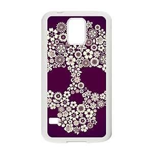 Flowers Skull Hot Seller Stylish Hard Case For Samsung Galaxy S5