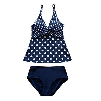 ccb1758c1fc8 Amazon.com: MOKO-PP Swimwear Women Tankini Sets with Boy Shorts Ladies  Swimming Costumes Two Piece Swimsuits: Clothing