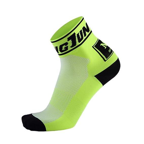 Enjoyall Hombre y Mujeres Transpirables absorbentes del Sudor Que montan Calcetines Deportivos Calcetines de Ciclismo en Verano 7OTRa
