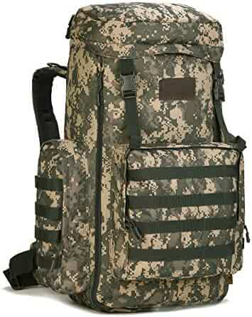Tactical Travel Backpack MOLLE Rucksack-70L-85L Waterproof Camouflage  Suitcase Hunting Mountain Sports Trekking 30512444c7
