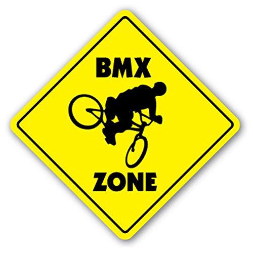1080 Graphics BMX Zone Sign Decal Sticker Bike Frame Bars Race Helmet Gift Biking Biker Gift Bikes - Decal Bmx Frame