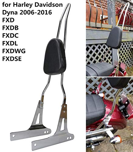 AUFER Detachable Chrome Backrest Sissy Bar for Harley Davidson Dyna FXD FXDB FXDC FXDL FXDWG FXDSE