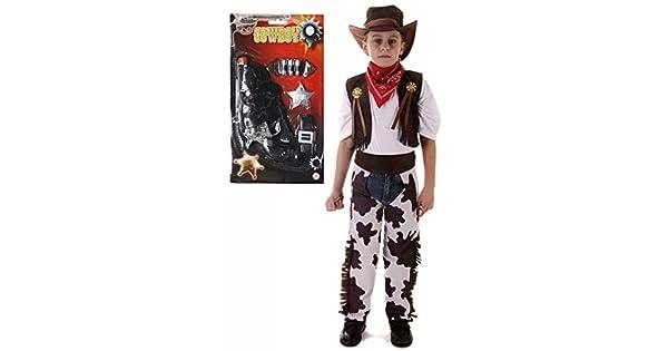 Pistola De Juguete De Vaquero Twin Set Funda Cinturón Niños Fancy Dress Costume Western Childrens