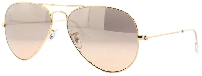 Amazon.com  New ORIGINAL Ray Ban RB 3025 001 3E Gold Brown Pink Lens Aviator  Sunglasses-62 mm  Shoes 19e806a827ce