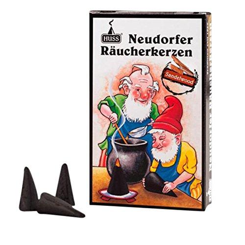 HUSS Incense Cones for German Incense Smoker - Sandalwood - Eco-Friendly Handmade in Germany (German Cone Incense)