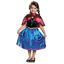 Disguise Costumes Anna Traveling Toddler Classic Costume, Small (2T), One Color