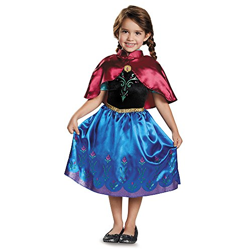 Anna Costumes Disney (Anna Traveling Toddler Classic Costume, Small (2T))