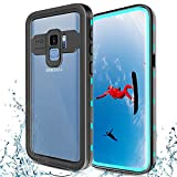 Transy Samsung Galaxy S9 Waterproof Case, Full Body Protective Shockproof Case with Built-in Screen Protector Design for Galaxy S9 5.8 Inch (Teal)
