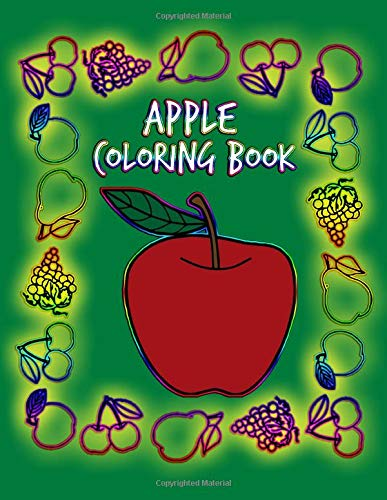 Apple Coloring Book Free Apple Coloring Pages Coloring Book Apple 9798635457856 Amazon Com Books