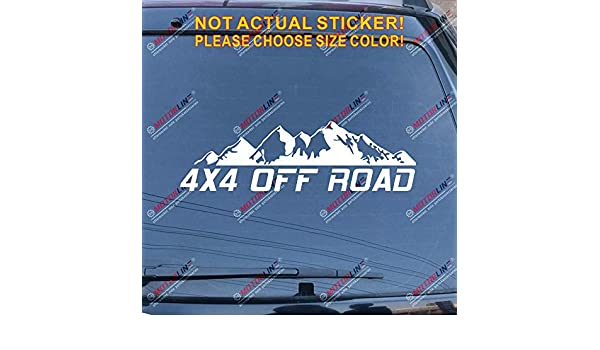 3S MOTORLINE 2X White 6 4X4 Off Road 4WD Mountain Decal Sticker Car Vinyl fit for Jeep Toyota Ford Style b