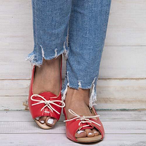 Plateforme À Été Art Plates sandales Femmes Sandales Talons Ohq Fille Compensees Clous Femme Rouge Argentées TCqSw
