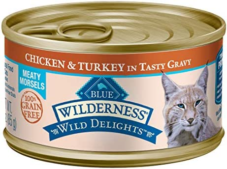 Blue Buffalo Wilderness Wild Delights High Protein Grain Free, Natural Adult Meaty Morsels Wet Cat Food 2