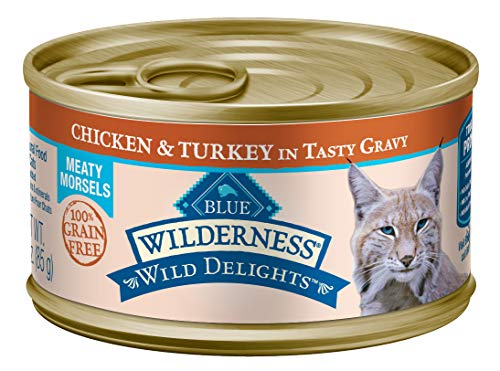 Blue Buffalo Wilderness Wild Delights High Protein Grain Free, Natural Adult Meaty Morsels Wet Cat Food