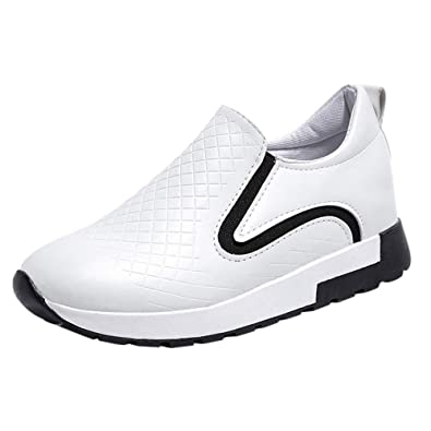 Sylar Zapatillas Deportivas Planas para Mujer Venta De Otoño Parte Superior De Cuero PU Moda Cómodo Zapatos De Fitness Zapatos Al Aire Libre 36-39: ...