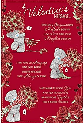 Me To You Bear Valentín Mensaje Me para la tarjeta del día de San ...