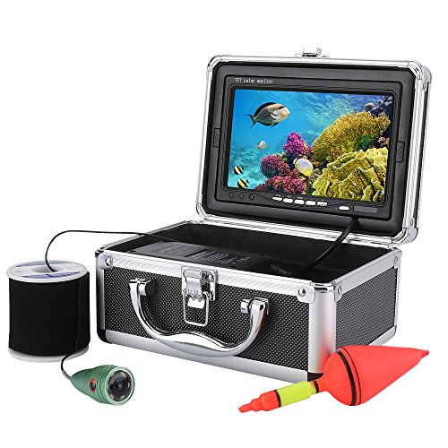 30M 1000tvl Underwater Fishing Video Camera Kit 6 PCS LED Lights with7'' Inch Color Monitor by MOUNTAINONE