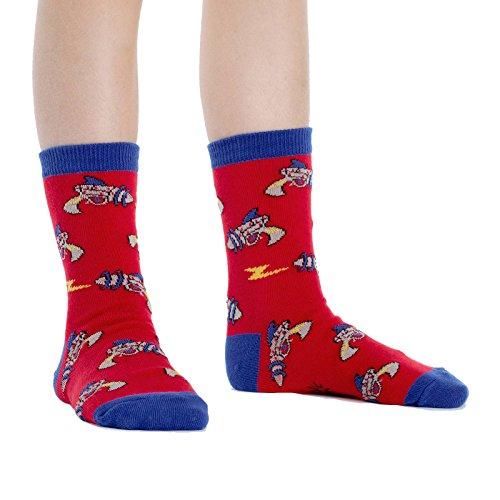 Sock It To Me, Rayguns, Junior Crew Socks, Ray Gun Sci-Fi Socks -
