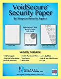 VoidSecure 24 lb. Bond Slate – Basketweave Pattern Security Paper 34 x 22 (1,500 Sheets)