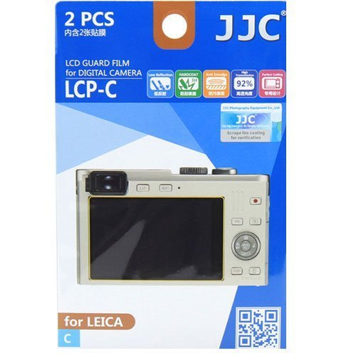 (JJC LCP-C Ultra Hard Polycarbonate LCD Guard Film Screen Protector Cover Leica C Camera 2 Pack )