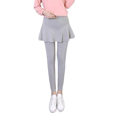 Waselia Femmes Maternité Robe Jupe Leggings Soutien Ventre - Épais Plus  Velours Pantalon Chaud L  dd0f980c2e7
