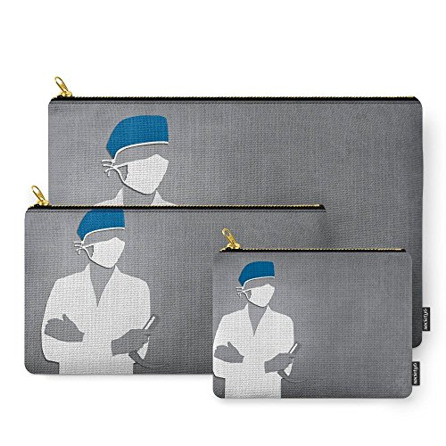 Society6 Anesthesiology Carry-All Pouch Set of 3