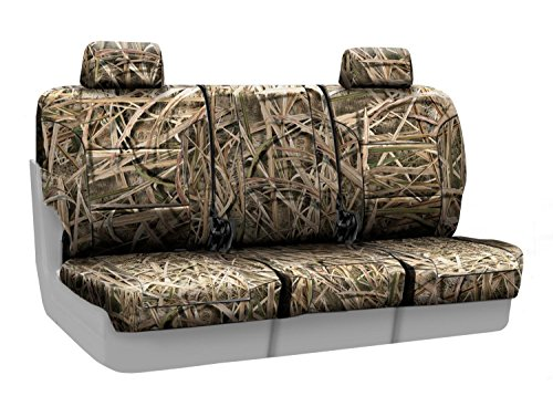 Coverking Front 40/20/40 Split Bench Custom Fit Seat Cover for Select Chevrolet Silverado 1500/2500 Models - Neosupreme Mossy Oak (Shadow Grass Blades Solid) (Front Bench Shadow)