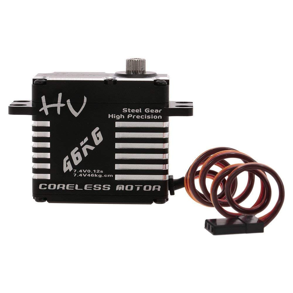 Goolsky JX CLSHV7346MG 46kg Aluminium Digital Coreless Servo for RC Car Helicopter Boat Airplane