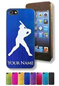 Apple Iphone 5/5S Case/Cover - BASEBALL PLAYER - Personalized for FREE (Click the CONTACT SELLER button after purchase and send a message with your case color and engraving request) by mcsharks